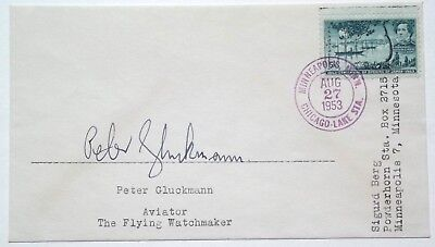 Peter Gluckmann Aviator Disappeared 1960 'The Flying Watchmaker' Autograph Rare