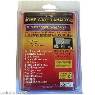 Water Test Kit Home Drinking Hardness Iron Bacteria Tester pH Meter All In One