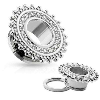 Piercing tunnel acier chirurgical bouclier tribal