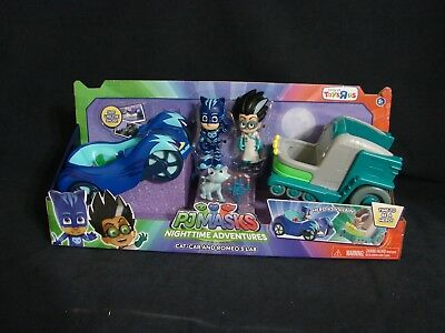 PJ Masks Nighttime Adventures Cat Car & Romeo's Lab New Toys R Us Exclusive 2017
