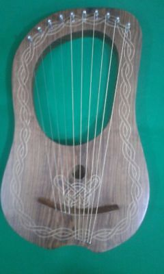 New Design Lyre Harp Rosewood 10 Strings WITH  FREE KEY AND BAG High Quality