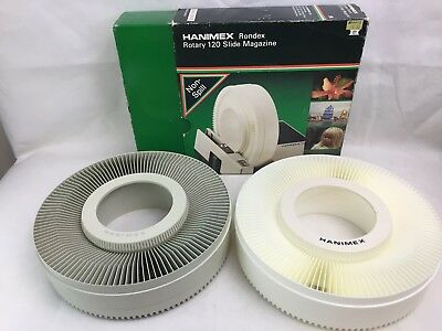 Hanimex - 120 Slide Rotary Magazine x 2 - For Projectors 35mm Slide Projectors -