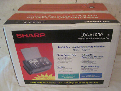 Vintage Sharp UX-A1000 Heavy Duty Inkjet Fax With Answering Machine New Sealed