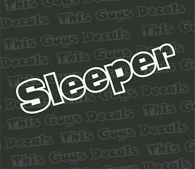 Sleeper Car Decal Sticker Decalmonster Com