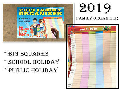 Family Organizer 2019 Calendar All Family Members Activities Tracker Planner