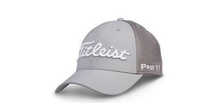 Titleist Tour Sports Mesh  FJ/Pro V1 Structured Hat / Cap/Headwear Fitted-Grey