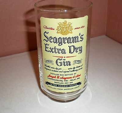 "Seagram's Extra Dry Gin ""In the Ancient Bottle"" Collector Bar Glass"