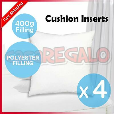 4x Pillow Memory Resilient Cushion Inserts Polyester Microfibre Filling 40x40CM