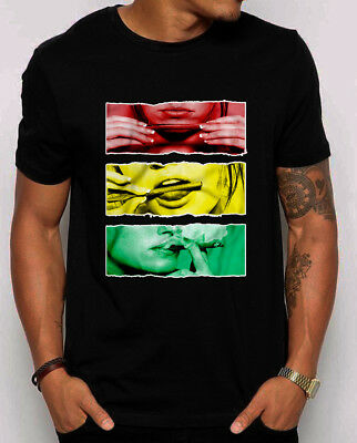 Roll Lick Smoke it T-Shirt Hot Girl rollin Blunt Rasta Weed 420 Marijuana shirt