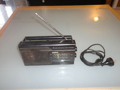 Vintage Sanyo Transistor Radio 2 Band Receiver RP 6168 Working Battery and 240V