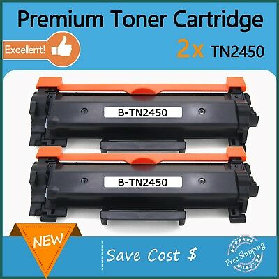 2 xWith Chip TN2450 Toner for Brother MFC-L2713DW MFC-L2730DW MFC-L2750DWL2350DW