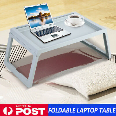 AU Foldable Breakfast Serving Serve Bed Tray Table For iPad iPhone Laptop Holder
