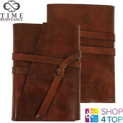 Italian Leather Journal Notebook Diary Blank Brown Cover Handmade Genuine New