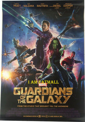 Guardians of the Galaxy (2014) Original DS 27x40 POSTER 1sheet double side