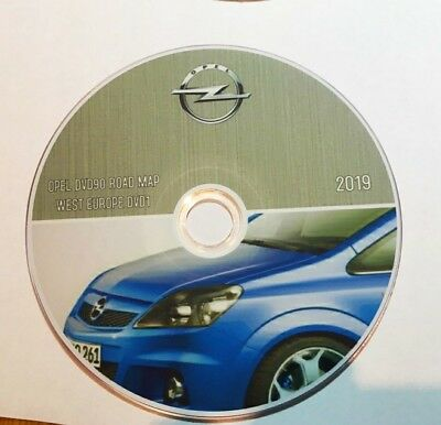 Opel DVD90 Navigation Map Update 2019 Europe DVD1