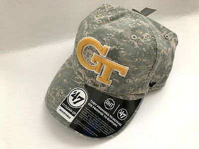 8cf19a736c8 47 BRAND GEORGIA Tech Yellow Jackets Gt Clean Up Oht Dad Hat Adult Strapback  Cap -  20.00