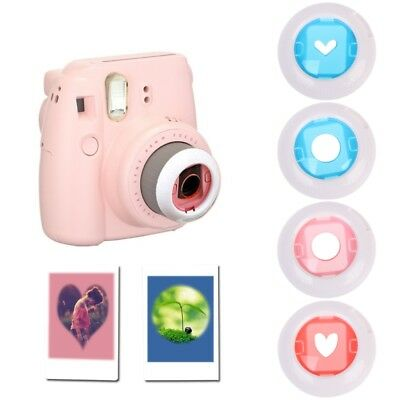 4Pcs Color Close Up Lens Filter Set For Fujifilm Instax Mini 7S/8/8+ Film Camera