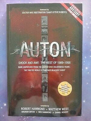Auton Shock And Awe The Best Of 1989 - 1998 Doctor Who Fanzine Book Rare Oop