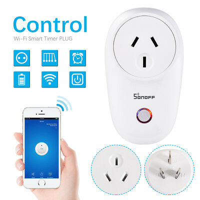 Sonoff S26 Smart Home WiFi APP Remote Power Socket AU Plug Timer Switch AH456