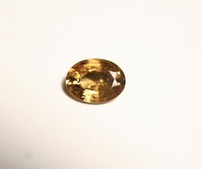 1.67ct Honey Yellow  Malaya Garnet - Precision Large Oval Cut Gem