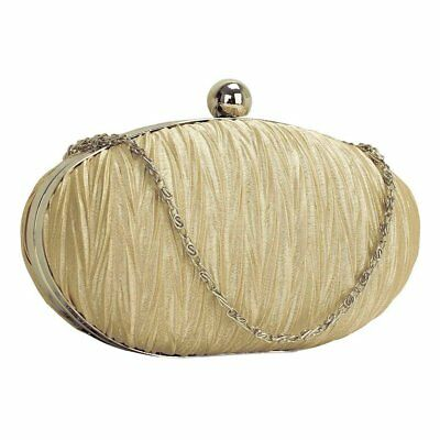 Nude Satin Clutch Bag Wedding Prom Party Evening Ladies Handbag New