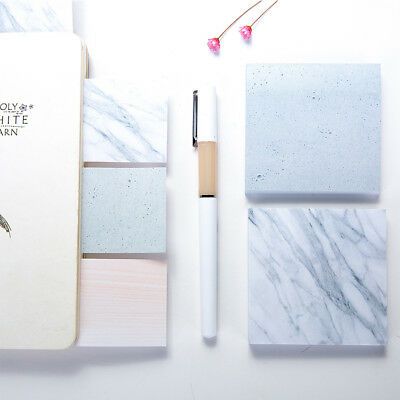1Pc 75 sheets The Color of Marble Notepad Self Adhesive Memo Pad Sticky Notes