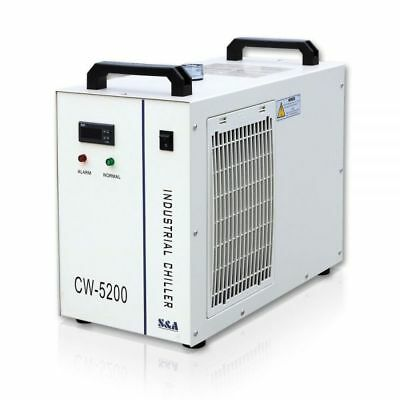 S&A CW-5200DH Industrial Water Chiller for Welder / Spindle / Laser Tube Cooling