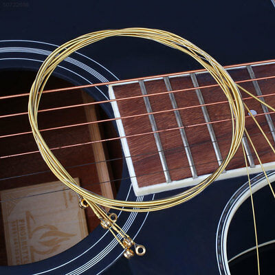 6709 6Pcs Folk Acoustic Guitar Brass Alloy Strings Set Accessories Universal