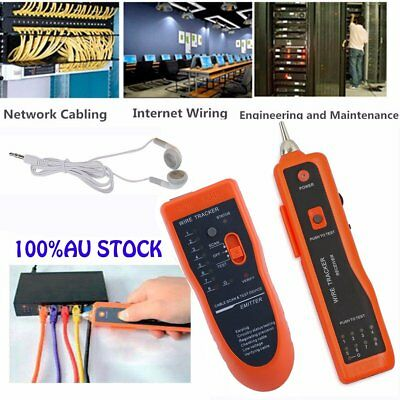 Telephone Lan Network RJ45/11 Tester Tracker Cable Wire Finder Tracer Toner GV)