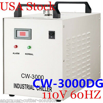 USA! S&A CW-3000DG Water Chiller FOR 60W / 80W CO2 Laser Tube 110V 60HZ