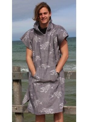 Poncho changing robe - back beach co Fish Bone