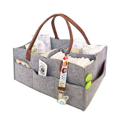 UK Baby Changing Bag Diaper Tote Nappy Bags Foldable Felt Storage Handbag Carry