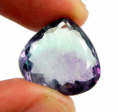 19.50 Ct Natural Bicolor Fluorite Loose Gemstone Pear Cut Stone - 10861