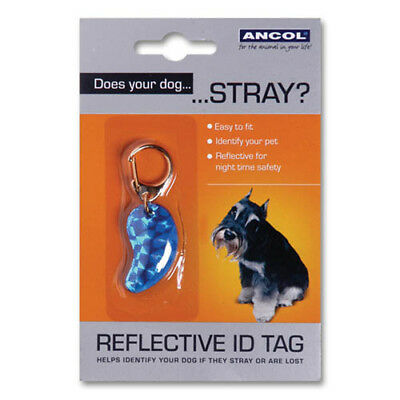 Dog Reflective Id Tags Assorted (Pack of 12)