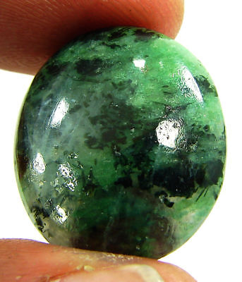 22.75 Ct Natural Ruby Zoisite Anyolite Loose Gemstone Cabochon Stone - 19388