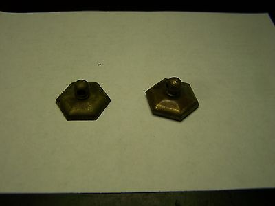 Lot of 2 Vintage Brass Dresser Drawer Pull Back Plates for Swing Handles   #9
