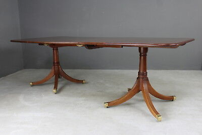 Brights of Nettlebed Regency Style Mahogany Extending Dining Table