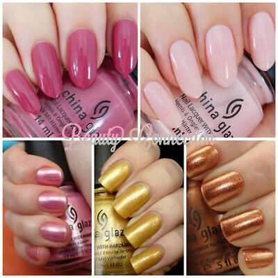 CHINA GLAZE Nail Lacquer Polish with Hardeners .5 oz *CHOOSE COLOR + FREE GIFT