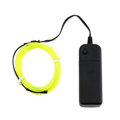2m Flexible EL Wire Tube Rope Neon Light Glow Controller Car Party DecorNW