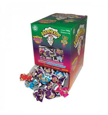 Warheads Super Sour Bubble-gum Pops 19g x 100 Pieces