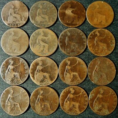 ONE ONLY UK Half Penny, You Choose the Date(s) 1861-1967 All Dates Not Available