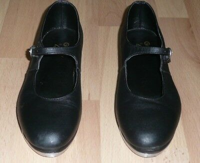 """Leo's """"Ms.Giordano"""" Tap Shoes - 6028, Black Leather, Adult Size 6.5M"""