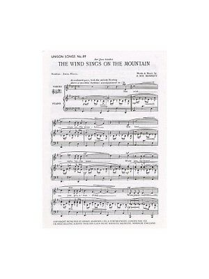 F Roy Bennett The Wind Sings On The Mountain Unison Voice Piano SHEET MUSIC BOOK
