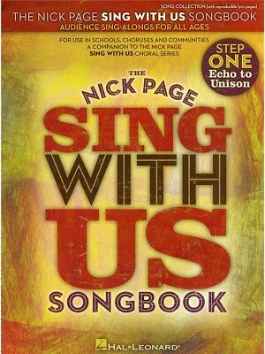 Nick Page Sing With Us Song Learn Play Voice Unison Voice Piano SHEET MUSIC BOOK