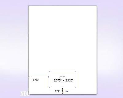 Letter Size Integrated Form with 1 Card (Box of 1000)