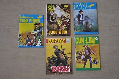 COWBOY ADVENTURE LIBRARY No 940, 950, 955, Western Pic Library 359, Battle 305
