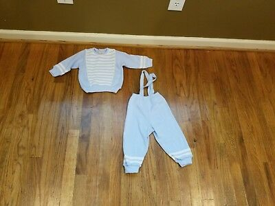 Vintage Babys Petit Bateau Made in France Sweater Outfit size 1 year