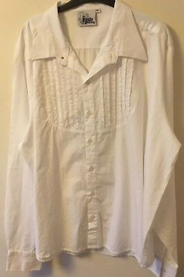 The Pirate Dressing Steampunk Victorian Shirt White In Size XL Chest Size