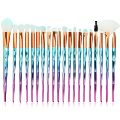 20PCS Unicorn Kabuki Makeup Brushes Set Powder Eyeshadow Blush Lip Brush Tools