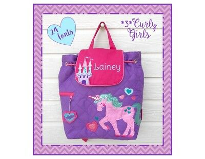 50bb9ce8d506 PERSONALIZED Girl s UNICORN PRINCESS Quilted TODDLER Backpack Stephen  Joseph NWT